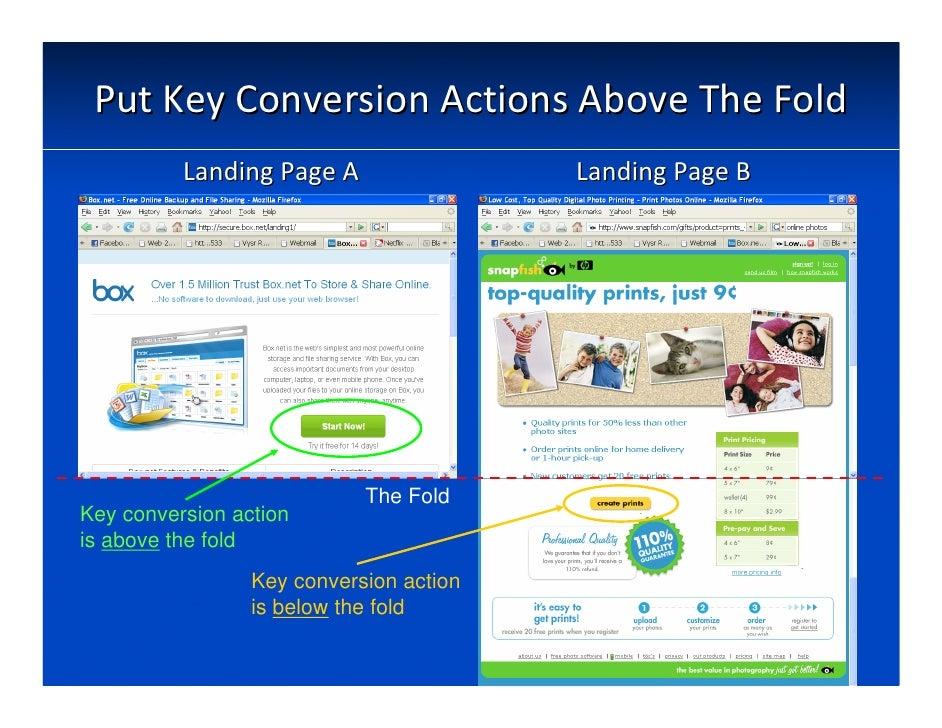 PutKeyConversionActionsAboveTheFold           LandingPageA                 LandingPageB                         ...