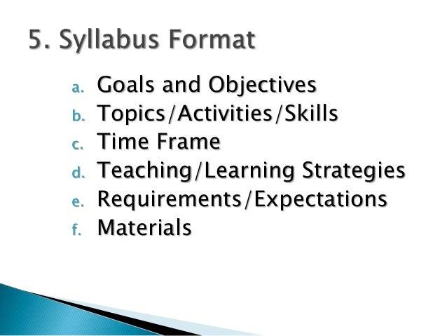 Designing an Esp Syllabus