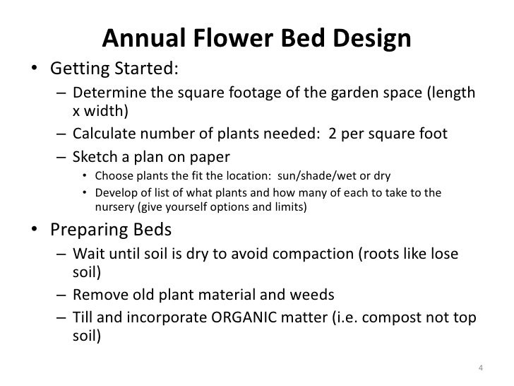 Designing annual flower bed 6 19 2010