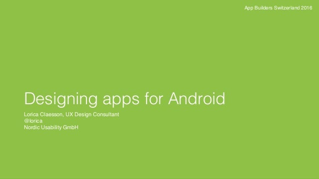 Designing apps for Android