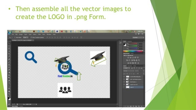 • After assembling the vector image save the image in .png form .