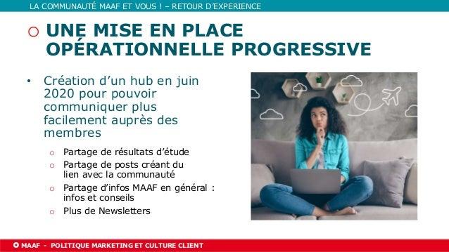03/06/2021 l PAGE 22 MAAF l NOM DE LA DIRECTION TITRE DE LA PRÉSENTATION LA COMMUNAUTÉ MAAF ET VOUS ! – RETOUR D'EXPERIENC...