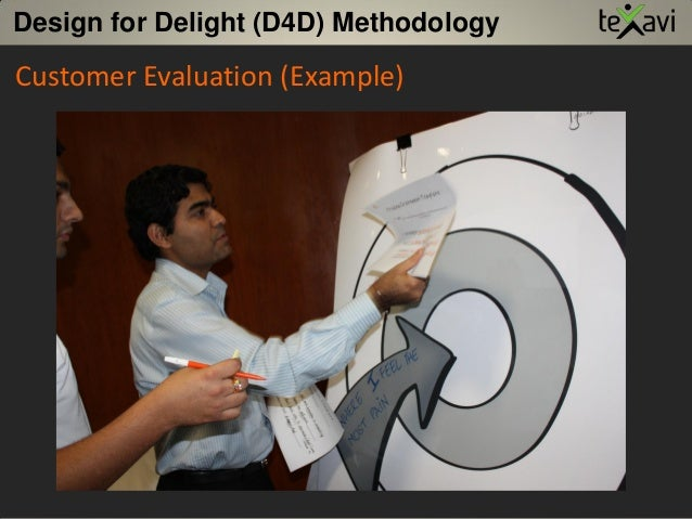 Customer Evaluation (Example) Design for Delight (D4D) Methodology