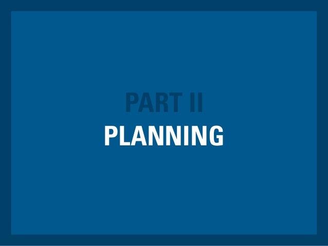 PLANNING PART II