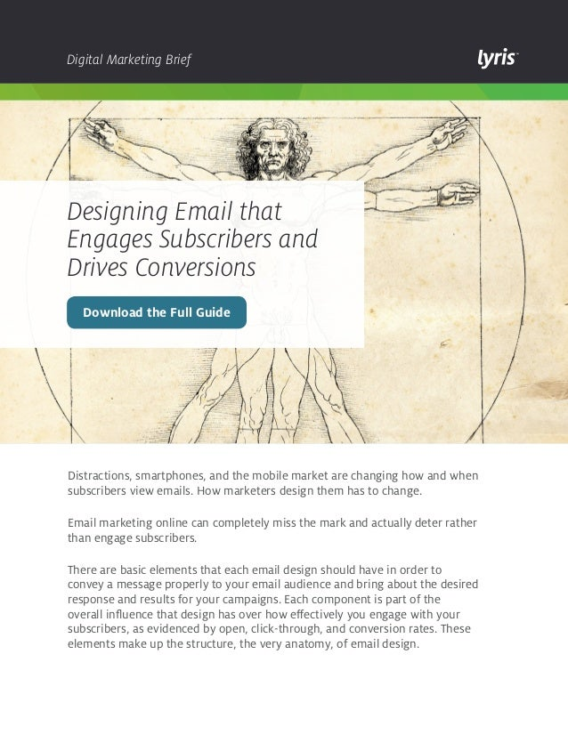Digital Marketing Brief  Designing Email that Engages Subscribers and Drives Conversions Download the Full Guide  Distract...