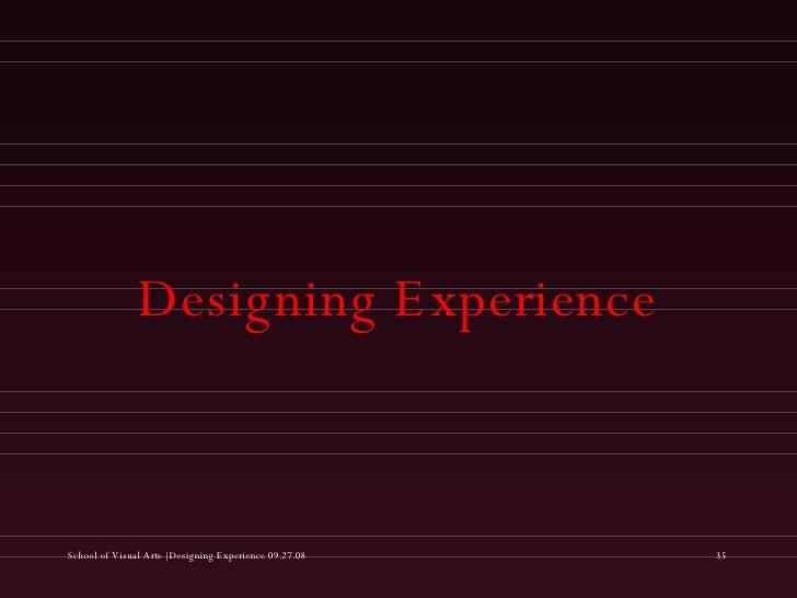 Designing Experience