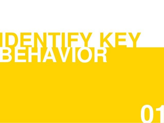 IDENTIFY KEY BEHAVIOR