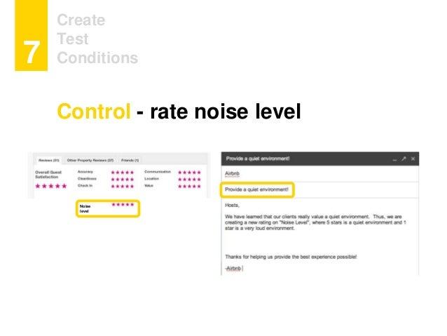 Create Test Conditions7 Noise level Control - rate noise level