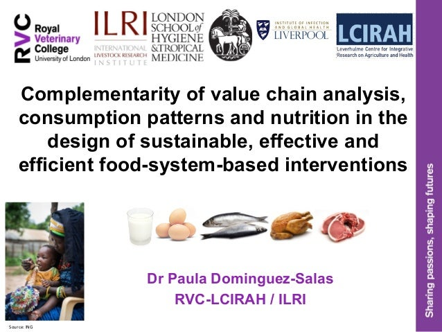 Complementarity of value chain analysis, consumption patterns and nutrition in the design of sustainable, effective and ef...