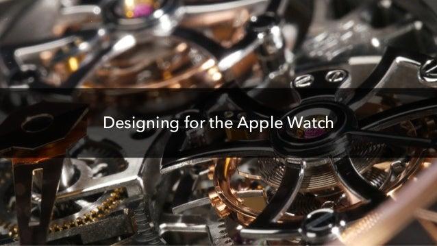 hi@dkontaris.com Designing for the Apple Watch