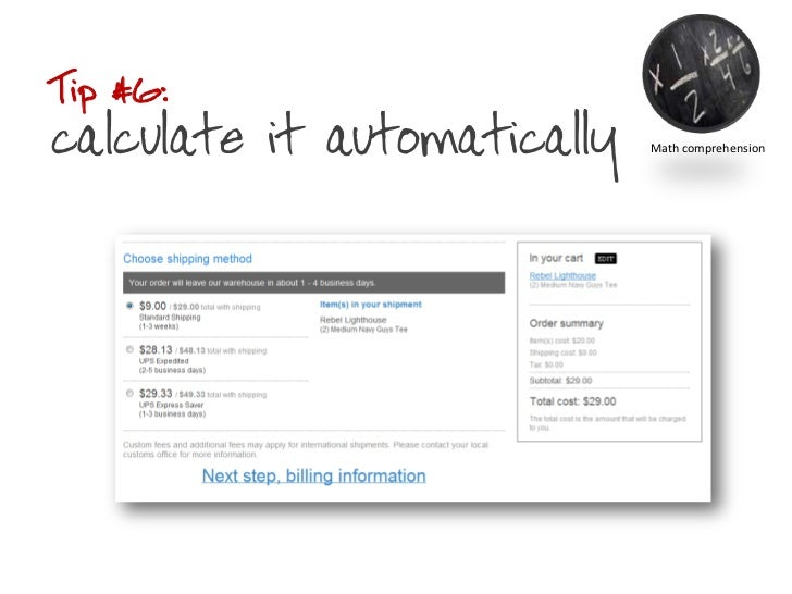 Tip #6: calculate it automatically