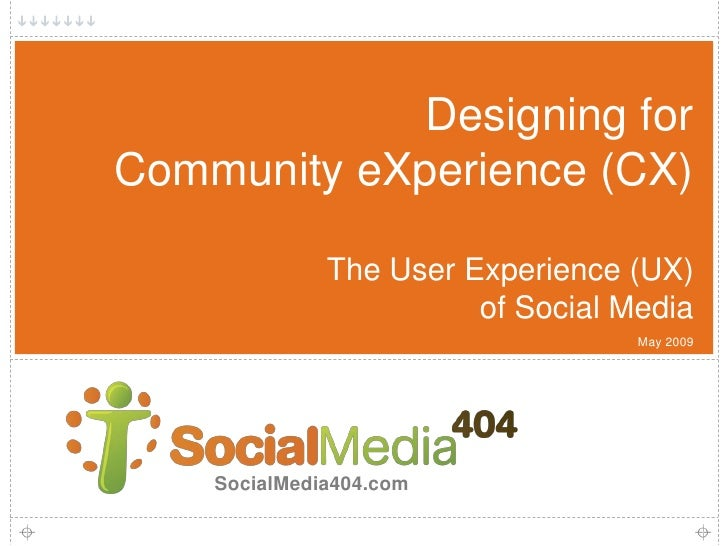 Designing for Community eXperience (CX)                The User Experience (UX)                         of Social Media   ...