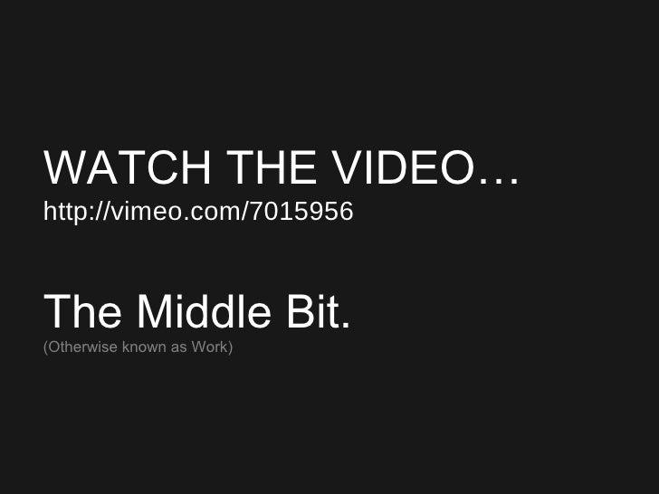 <ul><ul><ul><li>WATCH THE VIDEO… </li></ul></ul></ul><ul><ul><ul><li>http://vimeo.com/7015956 </li></ul></ul></ul><ul><ul>...