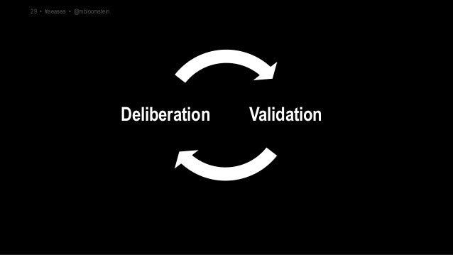 ValidationDeliberation 29 • #aeasea • @mbloomstein