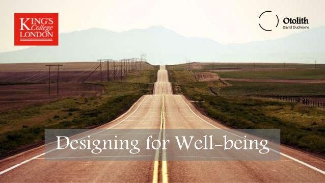 Otolith David Ducheyne Otolith David Ducheyne Designing for Well-Being Otolith David Ducheyne Designing for Well-being
