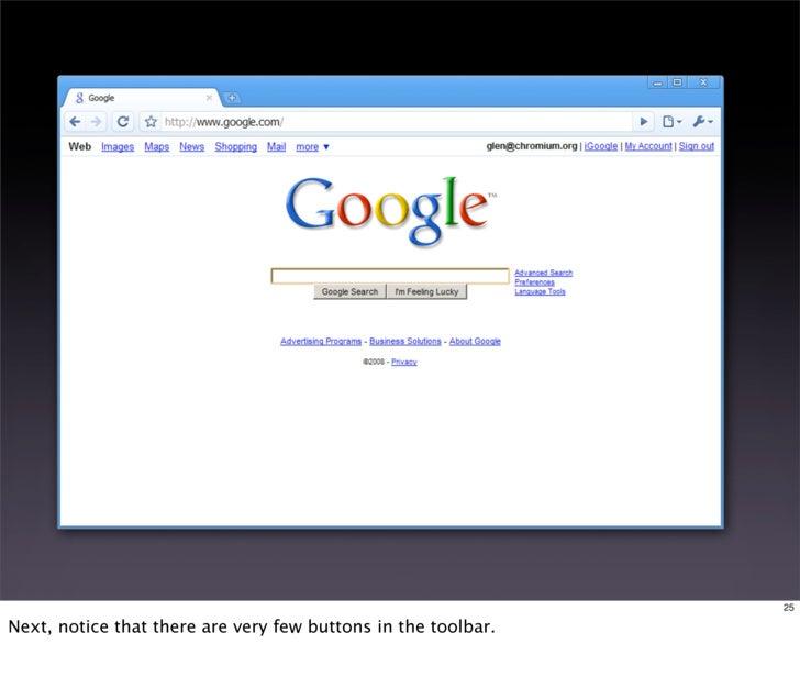 Designing Google Chrome