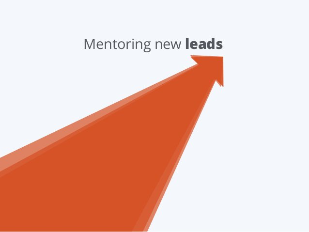 Mentoring new leads