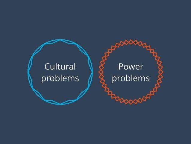 Power problems Cultural problems