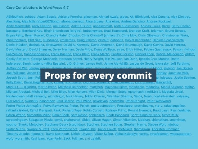 Props for every commit
