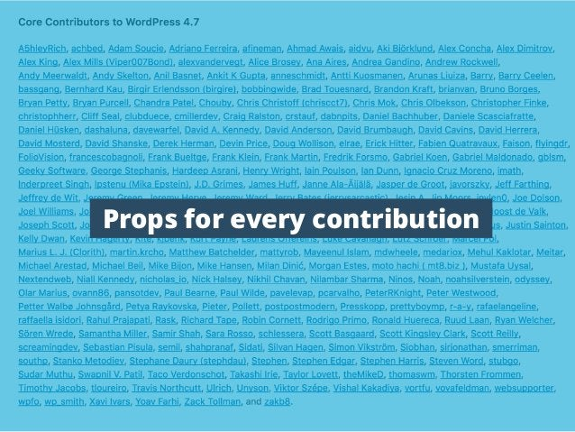 Props for every contribution