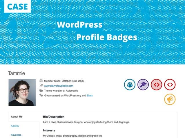CASE WordPress Profile Badges