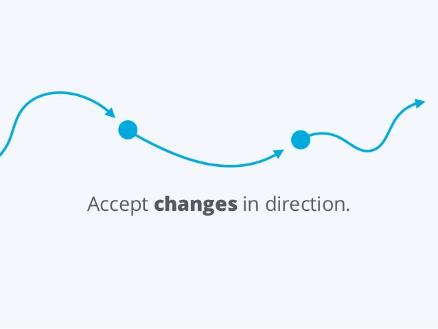 Accept changes in direction.