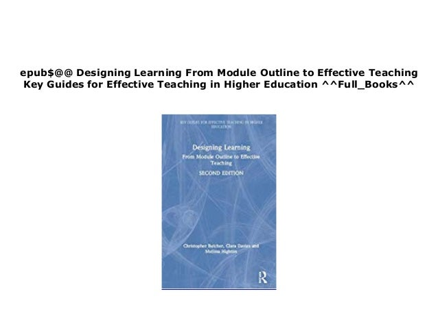 B O O K Library Designing Learning From Module Outline To Effective