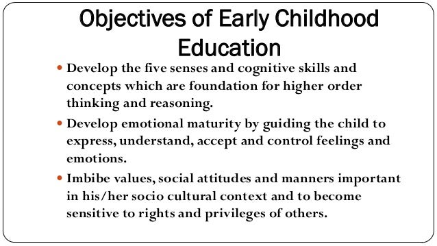 statement of goals early childhood education