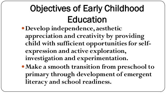 Designing Learning Objectives for Young Children