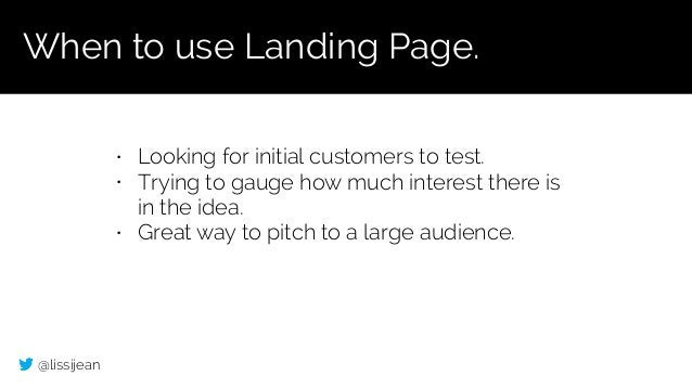 @lissijean • Looking for initial customers to test. • Trying to gauge how much interest there is in the idea. • Great way ...