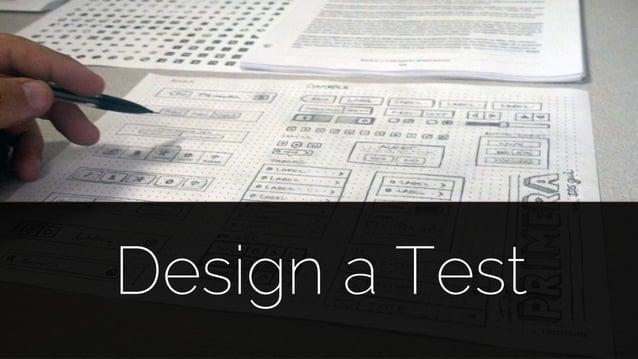 @lissijean Design a Test