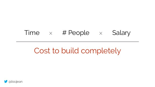 @lissijean Time Salary# Peoplex x Cost to build completely