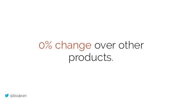 @lissijean 0% change over other products.