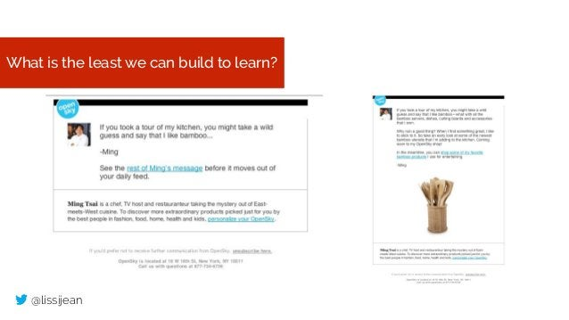 @lissijean What is the least we can build to learn?
