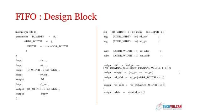 Fifo verilog code example