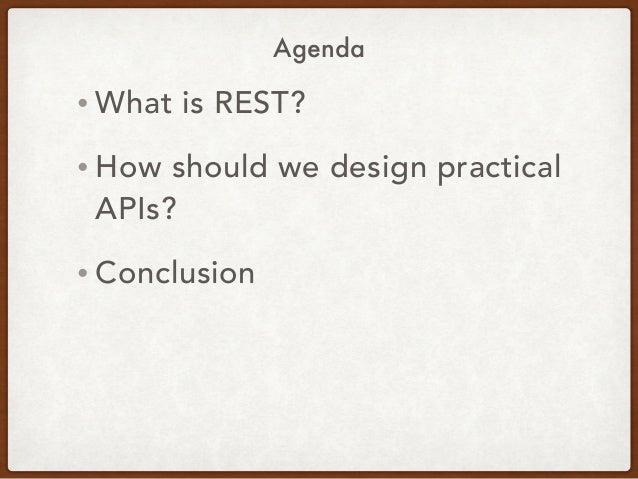 Designing Practical RESTful APIs Slide 3