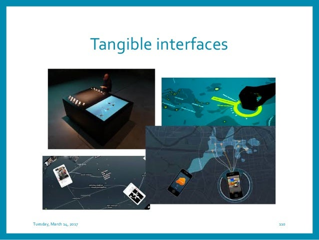 Wearable interfaces Tuesday, March 14, 2017 112