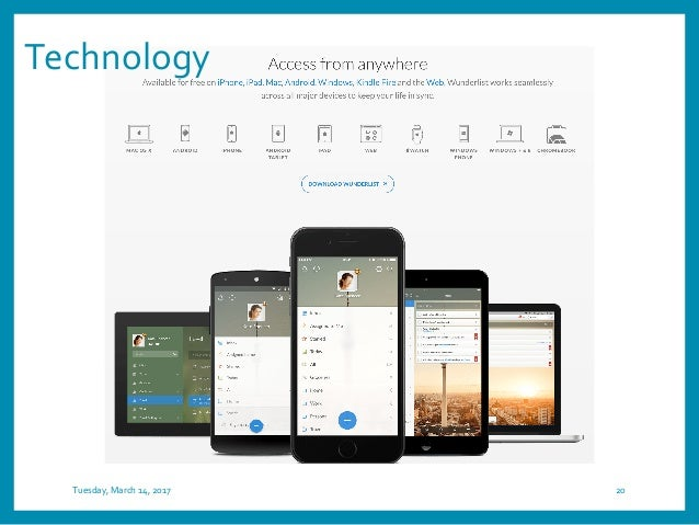 Technology Tuesday, March 14, 2017 20