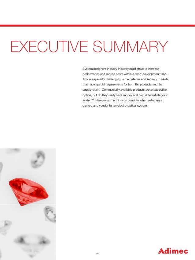 EXECUTIVE SUMMARY System designers in every industry must strive to increase performance and reduce costs within a short d...