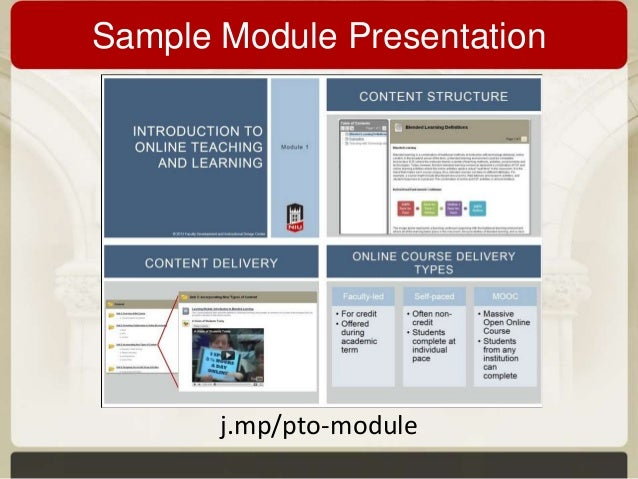 Designing Self Paced Training Modules As The Foundation Of Online Fac