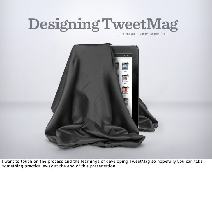 Designing TweetMag for iPad