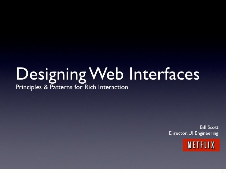Designing Web Interfaces Principles & Patterns for Rich Interaction                                                       ...