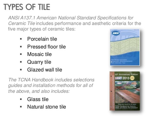 Designing With Tile - 6 different types wall tiles