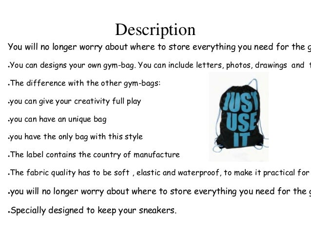 e67729e58e Designing your own gym bags
