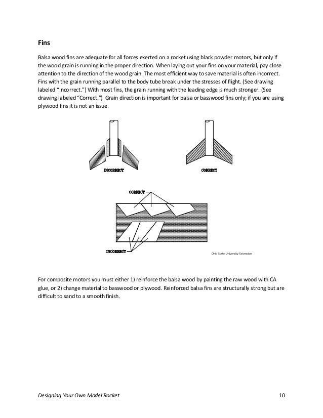 Designing your own model rocket