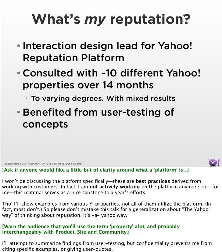 Designing Your Reputation System Slide 3