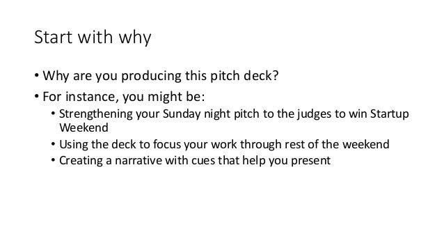 Designing your Startup Weekend pitch deck Slide 2