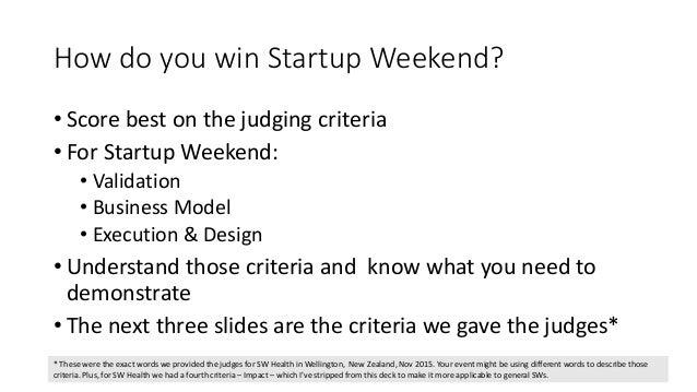 Designing your Startup Weekend pitch deck Slide 3