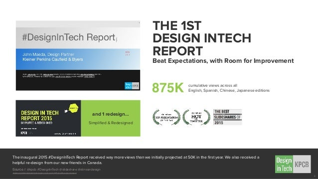The inaugural 2015 #DesignInTech Report received way more views than we initially projected at 50K in the first year. We al...