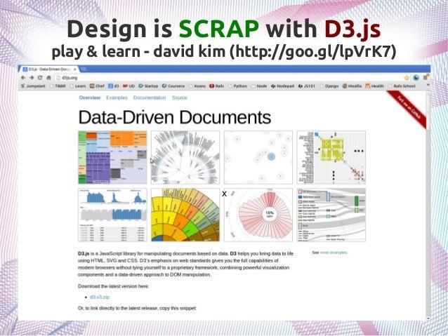 Design is SCRAP with D3.js play & learn - david kim (http://goo.gl/lpVrK7) x